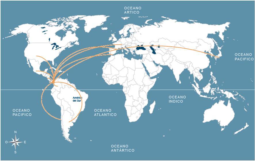 mapa de nuestros colaboradores