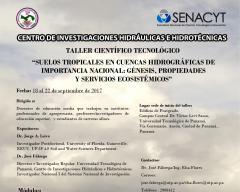 Taller de suelos tropicales en cuencas hidrográficas de importancia nacional,  Panamá. Universidad Tecnológica de Panamá, Centro de Investigaciones Hidráulicas e Hidrotécnicas, UTP, CIHH.
